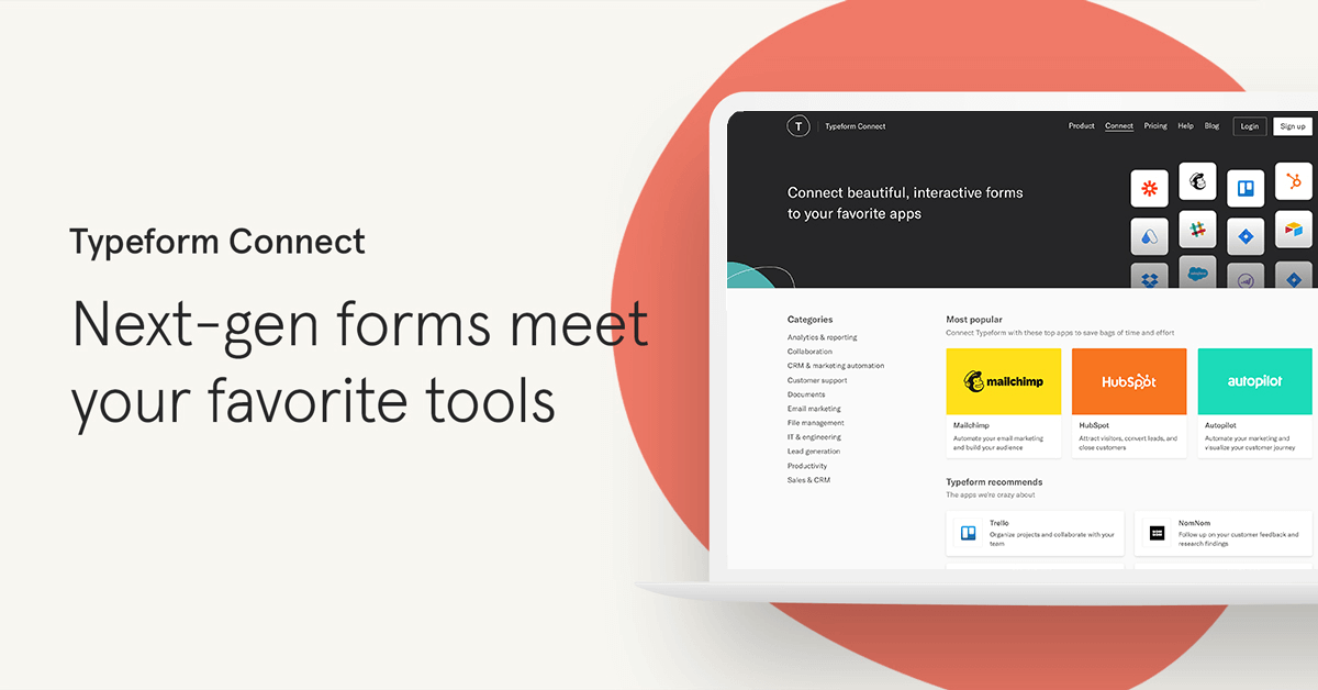 Marketing automation apps & integrations | Typeform Connect